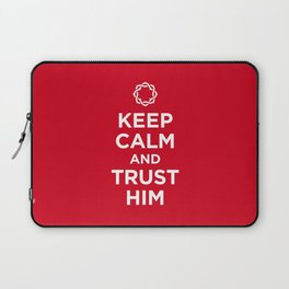 Keep Calm & Trust Him Laptop Sleeve
