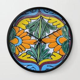 Talavera Eight Wall Clock