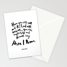 Isaiah 58:9 Stationery Cards