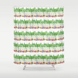 Funky Vegetables Shower Curtain