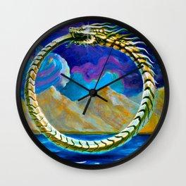 Ouroboros by Adam France Wall Clock