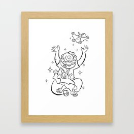 Ninja Master of Magic - ink Framed Art Print