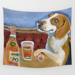 One Beagle, One Scotch, One Beer Wall Tapestry