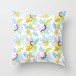 Colorful Toucans Chill Out Throw Pillow