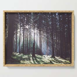 Magic forest - Landscape and Nature Photography Serving Tray