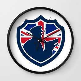 British Police Canine Team Crest Icon Wall Clock