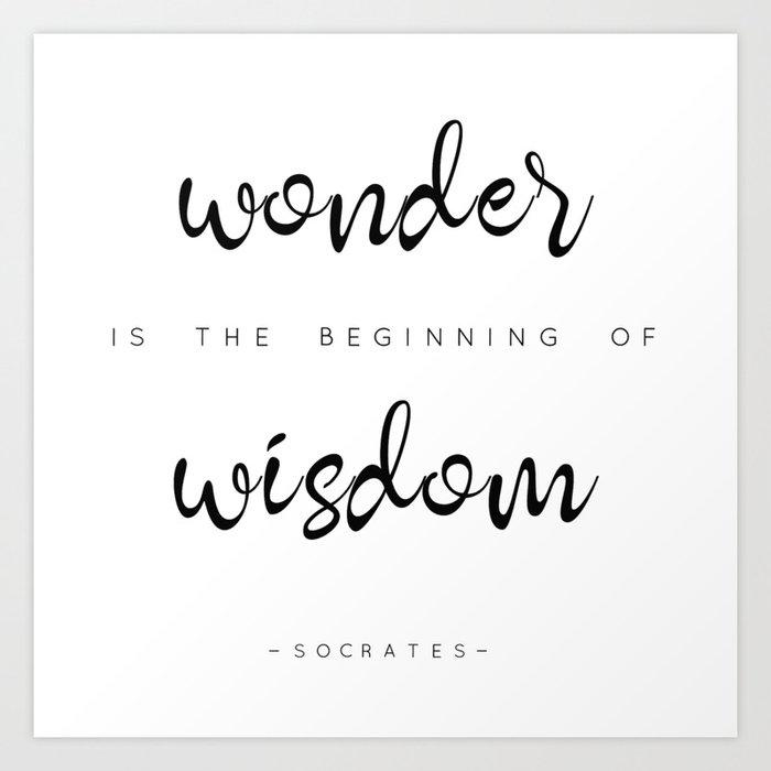 Wonder is Art Print