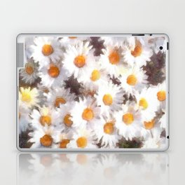 Spring Daisy Wildflower Watercolor Laptop & iPad Skin