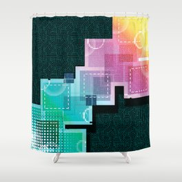 Abstract Tech Shower Curtain
