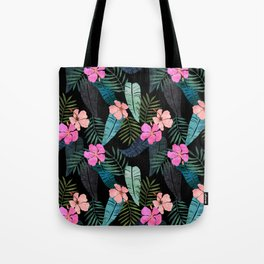 Island Goddess Tropical Black Tote Bag