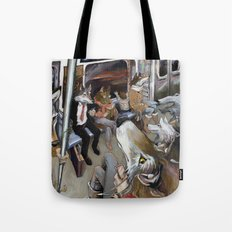 E Train Wolves Tote Bag