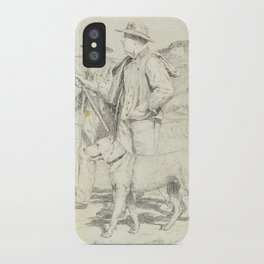 ANKER, ALBERT (1831 Ins 1910) Two hikers with dog. iPhone Case