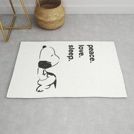 Snoopy - peace love sleep Rug