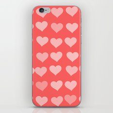 Cute Hearts iPhone & iPod Skin