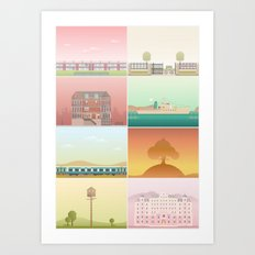 The Films of Wes Anderson Art Print