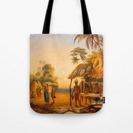 Watu Ticabu Illustrations Of Guyana South America Natural Scenes Hand Drawn Tote Bag