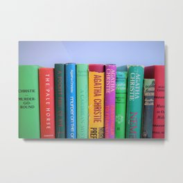 Row of Colorful Vintage Agatha's Metal Print