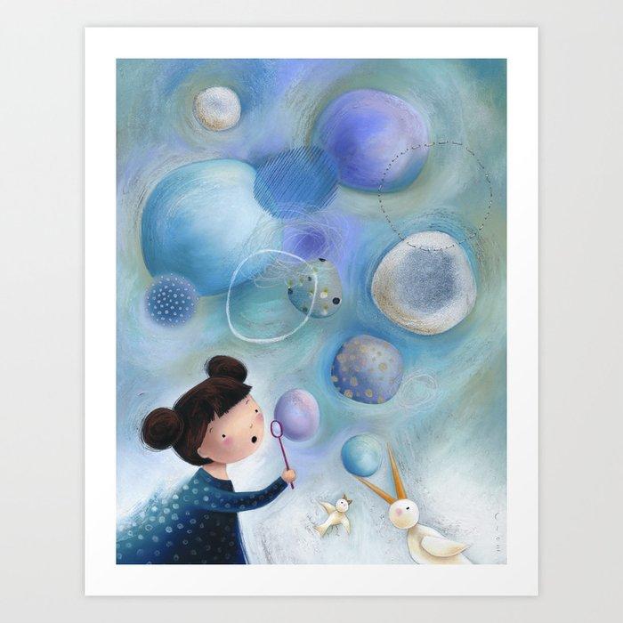 Soap Bubbles Art Print