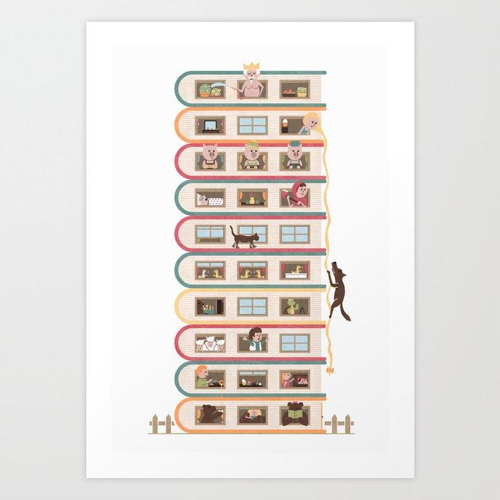 Ten Stories High Art Print