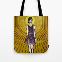 dress Tote Bags featuring Dress by Filip Postolache