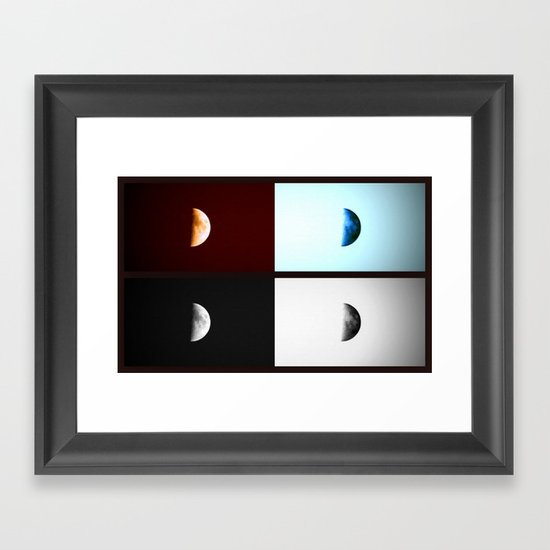Glowing Waxing Crescent II Framed Art Print