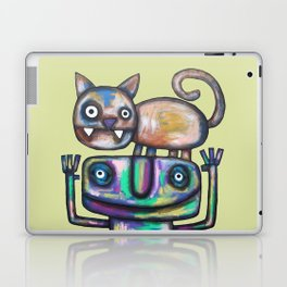 Juggler with Cat Laptop & iPad Skin