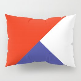 Triangles Retro Pop Art Abstract - Red White Blue Series Pillow Sham