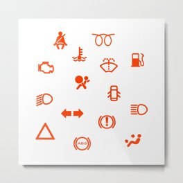 Vehicle Dash Warning Symbols Metal Print