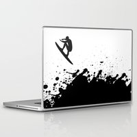 surfer Laptop & iPad Skins featuring Surfer by Emir Simsek
