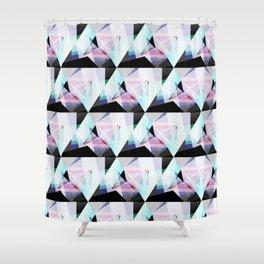 triangular pattern Shower Curtain