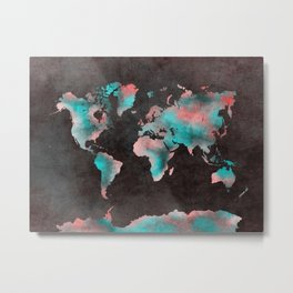 world map 61 Metal Print