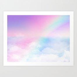 Pretty Rainbow Art Print