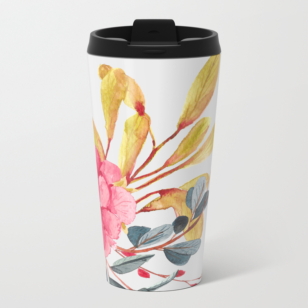 Simple Water Color Metal Travel Mug by Justrachna MTM8586043
