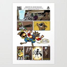 Fight Scene #3 Art Print
