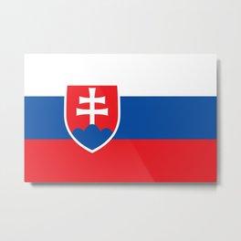 Slovakian Flag - High Quality Image Metal Print