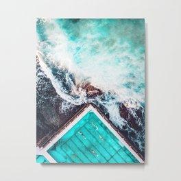 Sydney Bondi Icebergs Metal Print