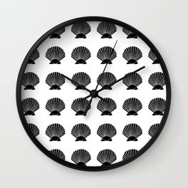 Black Seashell Wall Clock