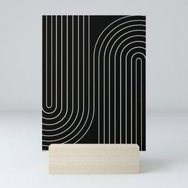 Minimal Line Curvature II Mini Art Print