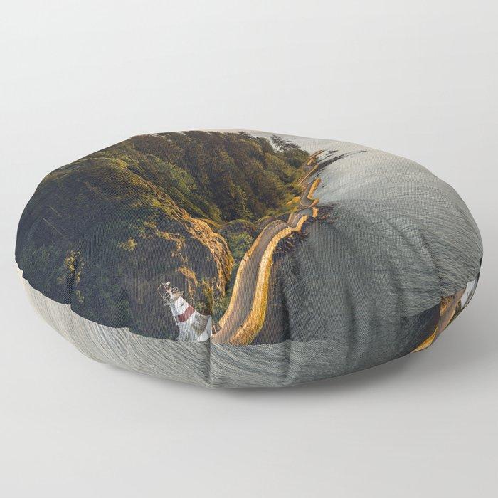 A Curvy Park - Vancouver, British Columbia, Canada Floor Pillow