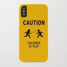 Children at Play iPhone X Slim Case