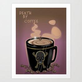Skullet: Death By Coffee Art Print