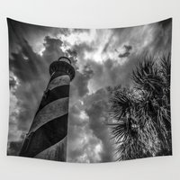 lighthouse Wall Tapestries featuring Lighthouse by John Hinrichs