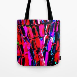 Dark Red Sugarcane Tote Bag