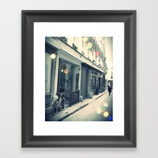 Bicycle and cobblestone Framed Art Print