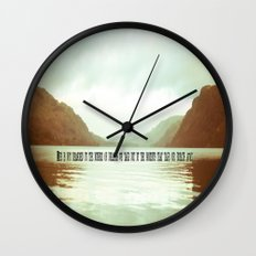 The moments that take our breath away.  Wall Clock