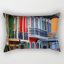 Colorful French Quarter Row Homes Rectangular Pillow