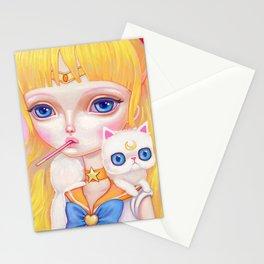Sailor Venus Snacking On Pocky Stationery Cards