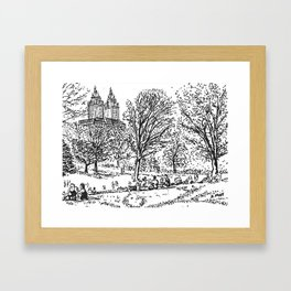 Central Park Framed Art Print
