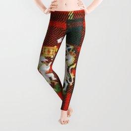 RED & GREEN CAMERON TARTAN ROYAL SCOTLAND Leggings