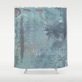 Aether Maze Shower Curtain